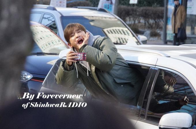 #Shinhwa Inkigayo Commute 170115